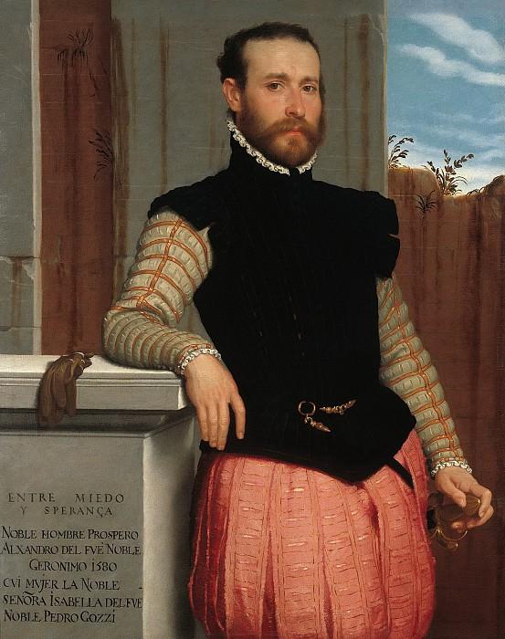 Джованни Баттиста Морони - Портрет Просперо Алессандри. 1560. 105х84. М Лихтенштейн. Музей Лихтенштейн (Вена)
