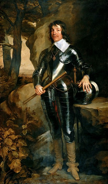 Антонис ван Дейк - Портрет Джеймса, 3-го маркиза Хэмильтона. 1640. 219х129. М Лихтенштейн. Liechtenstein Museum (Vienna)