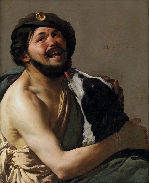 Хендрик Тербрюгген - Браво со своей собакой. 1628. 83х69. Колл Гогенбухау. Liechtenstein Museum (Vienna)