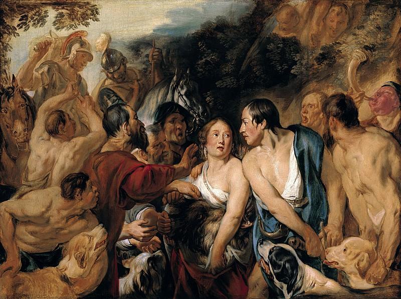 Якоб Йорданс - Мелеагр и Аталанта (скетч). 1618. 73х98. М Лихтенштейн. Музей Лихтенштейн (Вена)