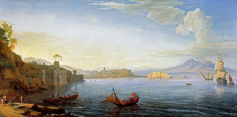 Адриан Манглар - Вид Неаполя. ок1750. 77х156. Колл Харрах замок Рохрау. Liechtenstein Museum (Vienna)