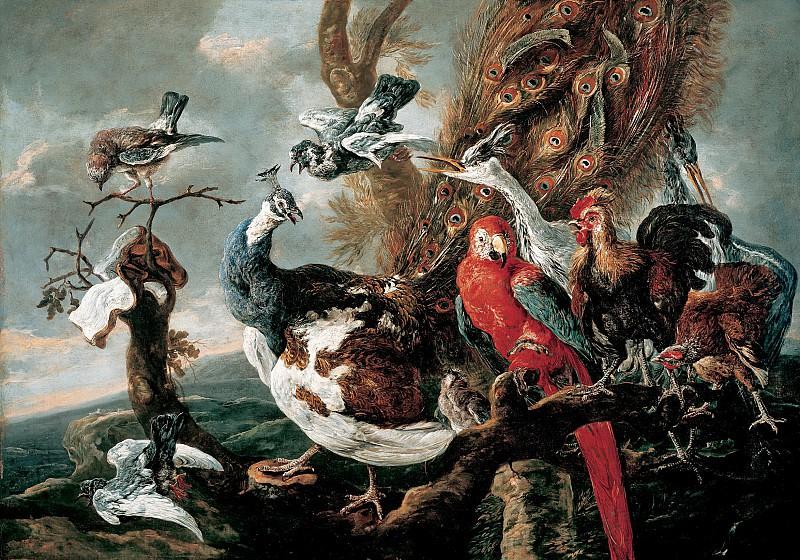 Ян Фейт - Птичий концерт. 1658. 120х171. М Лихтенштейн. Liechtenstein Museum (Vienna)