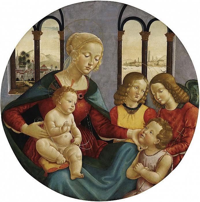Себастьяно Майнарди - Мадонна с младенцем, Иоанном Крестителем и двумя ангелами. ок1500. 82см. М Лихтенштейн. Liechtenstein Museum (Vienna)