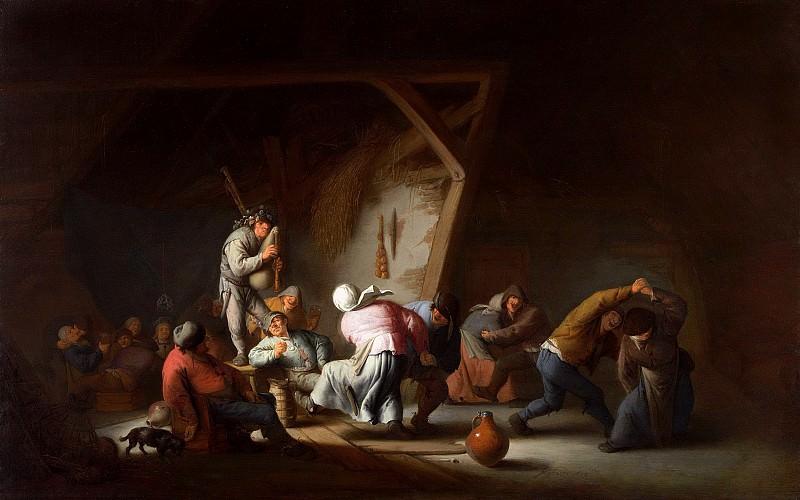 Адриан ван Остаде - Крестьянские танцы. 1635. 60х94. М Лихтенштейн. Музей Лихтенштейн (Вена)