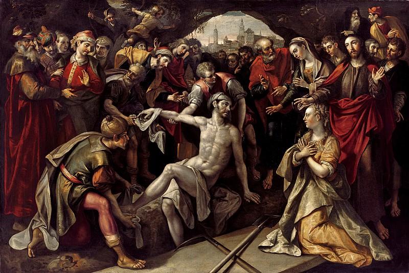 Мартин де Вос - Воскрешение Лазаря. 1593. 151х225. М Лихтенштейн. Liechtenstein Museum (Vienna)