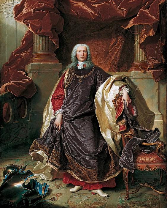 Иасент Риго - Портрет принца Жозефа Венцеля фон Лихтенштейн (1696-1772). 1740. 81х65. М Лихтенштейн. Liechtenstein Museum (Vienna)