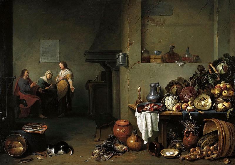 Питер де Блот - Христос в доме Марии и Марфы. 1637. 47х66. М Лихтенштейн Вена. Liechtenstein Museum (Vienna)