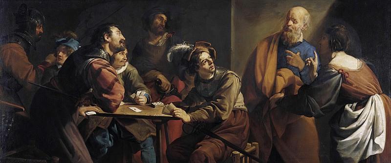 Теодор Ромбоутс - Отречение св Петра. 94х206. М Лихтенштейн. Музей Лихтенштейн (Вена)