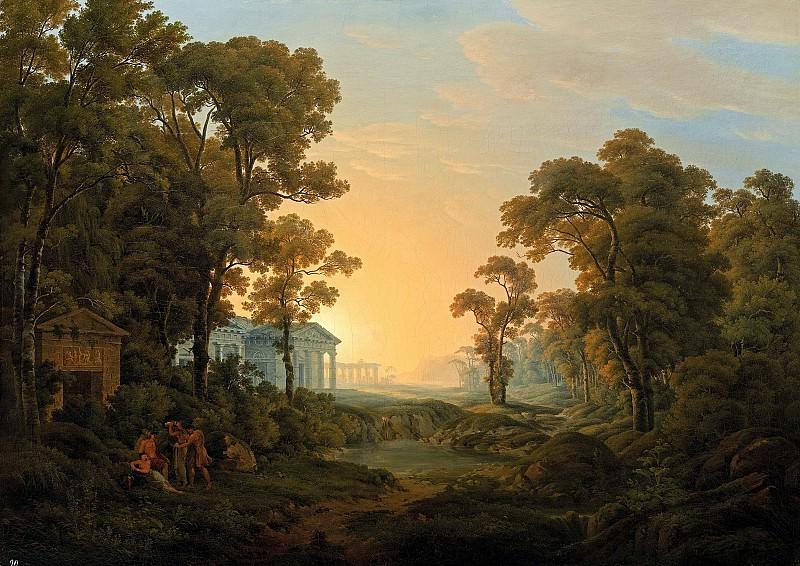 Йозеф Ребель - Пейзаж с храмом. 1809. 113х157. М Лихтенштейн. Liechtenstein Museum (Vienna)