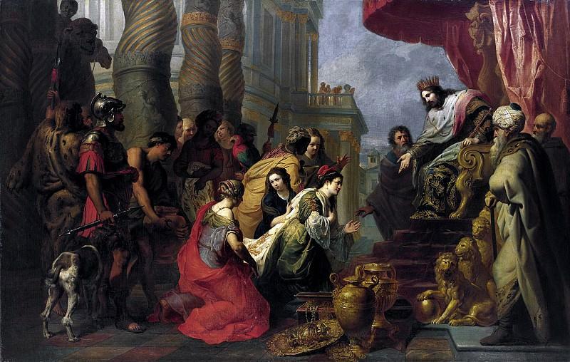 Эразмус Квеллинус II - Встреча Саломона и царицы Савской. 151х237. М Лихтенштейн. Liechtenstein Museum (Vienna)