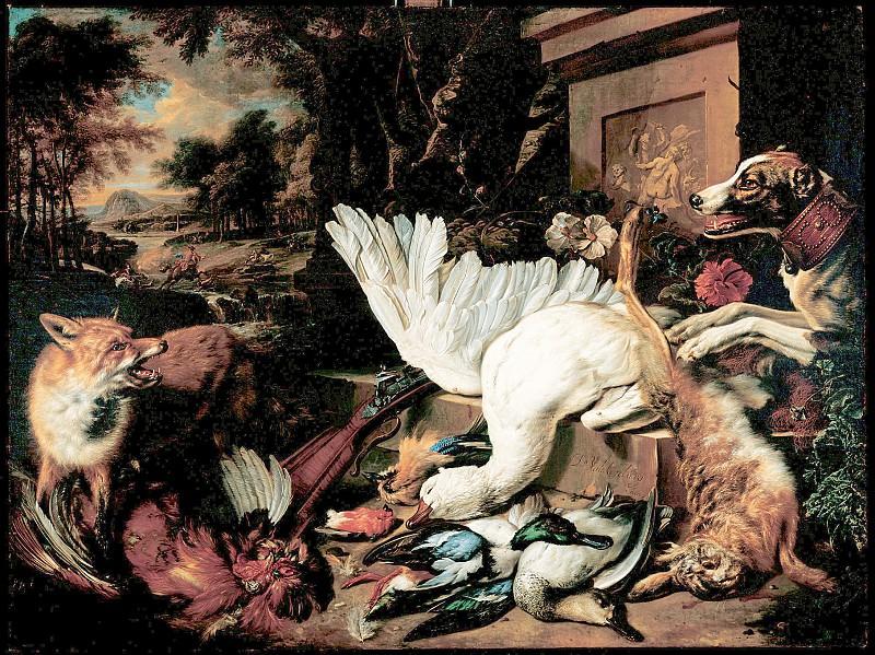 Дирк ван Валькенбург - Натюрморт с битой дичью. 1699. 135х181. М Лихтенштейн. Liechtenstein Museum (Vienna)