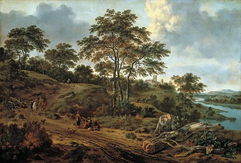 Ян Вейнантс - Холмистый пейзаж. 1666. 98х145. М Лихтенштейн. Музей Лихтенштейн (Вена)