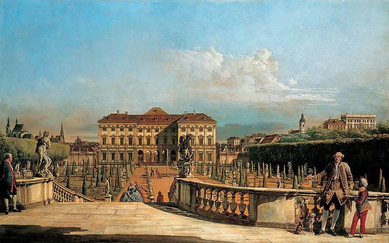 Бернардо Беллотто - Вид на сад дворца Лихтенштейн с Бельведера. 1760. 100х159. М Лихтенштейн. Музей Лихтенштейн (Вена)
