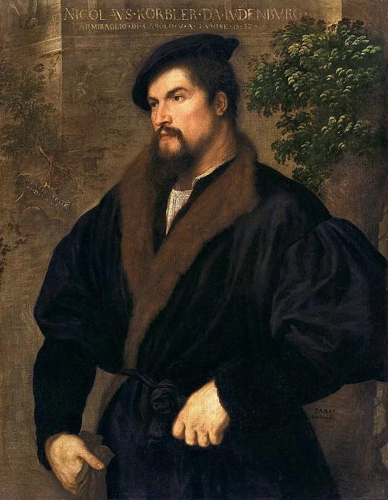 Парис Бордоне - Портрет Николаса Кёрблера. 1532. 100х78. М Лихтенштейн. Музей Лихтенштейн (Вена)