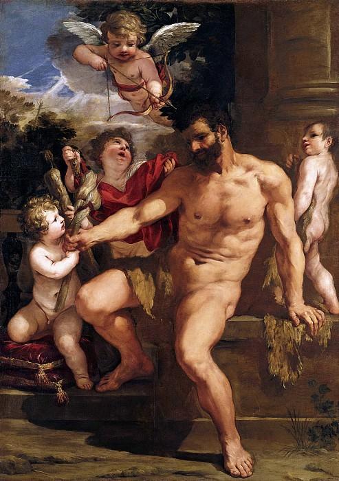 Пьетро да Кортона - Наказание Геркулеса. 1635. 300х200. М Лихтенштейн. Liechtenstein Museum (Vienna)