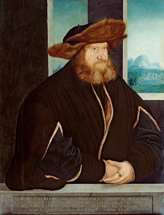 Кристоф Амбергер - Портрет мужчины. 1537. 80х61. М Лихтенштейн. Liechtenstein Museum (Vienna)