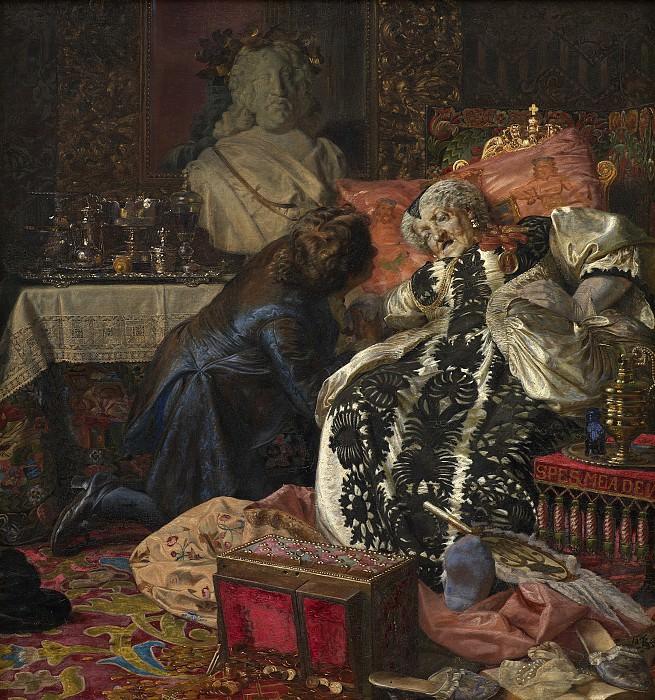 Сартман, Кристиан (1843-1917) - Смерть королевы Софии Амалии. Копенгаген (SMK) Датская национальная галерея