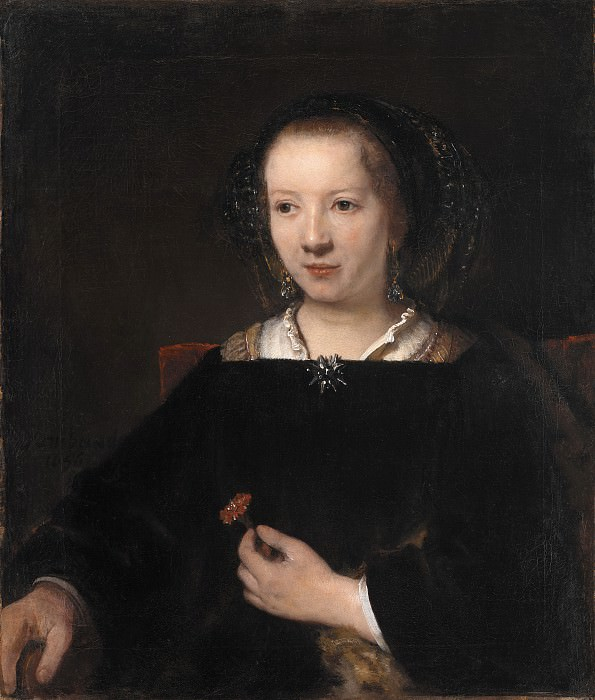 Willem Drost (1633-58) - Young Woman with a Carnation. Kobenhavn (SMK) National Gallery of Denmark