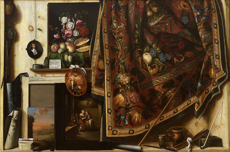 Cornelius Norbertus Gijsbrechts (c. 1610- after 1675) - Trompe l'oeil. A Cabinet in the Artist's Studio. Kobenhavn (SMK) National Gallery of Denmark