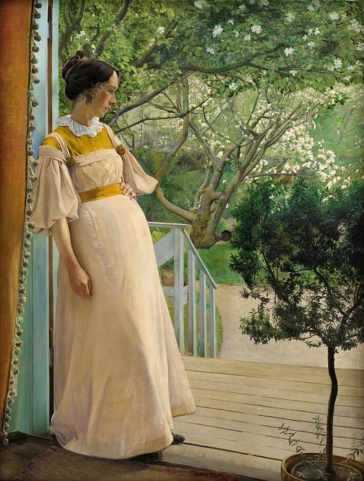 Ринг, Лауриц Андерсен (1854-1933) - Жена художника. Копенгаген (SMK) Датская национальная галерея