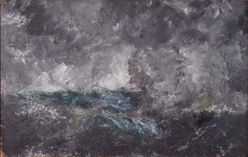 August Strindberg (1849-1912) - Storm in the Skerries. The Flying Dutchman. Kobenhavn (SMK) National Gallery of Denmark