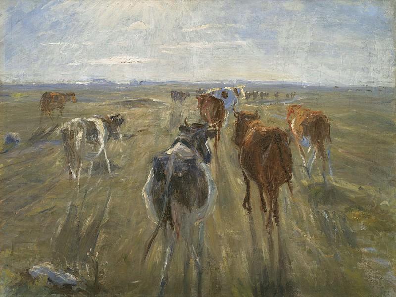 Theodor Philipsen (1840-1920) - Cattle on the Island of Saltholm. Kobenhavn (SMK) National Gallery of Denmark