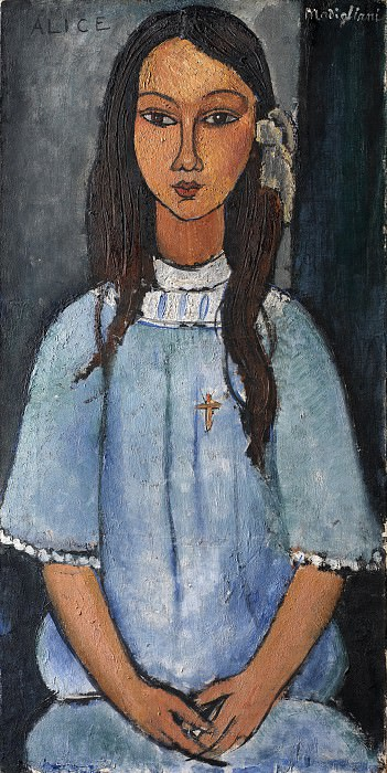 Amadeo Modigliani (1884-1920) - Alice. Kobenhavn (SMK) National Gallery of Denmark