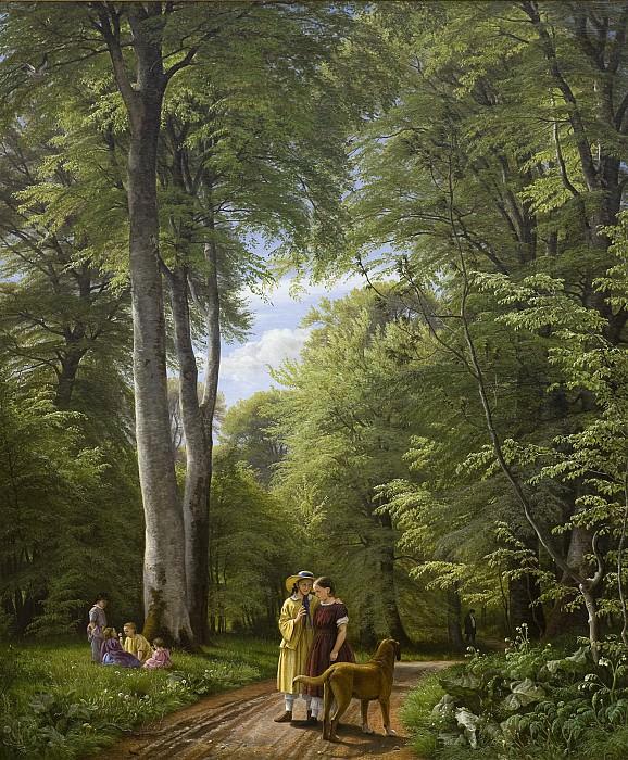 Peter Christian Skovgaard (1817-75) - A Beech Wood in May near Iselingen Manor, Zealand. Kobenhavn (SMK) National Gallery of Denmark