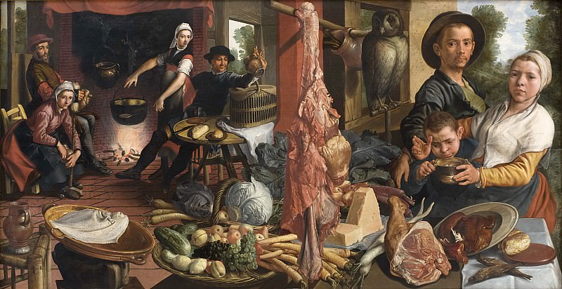 Pieter Aertsen - The Fat Kitchen. An Allegory. Kobenhavn (SMK) National Gallery of Denmark