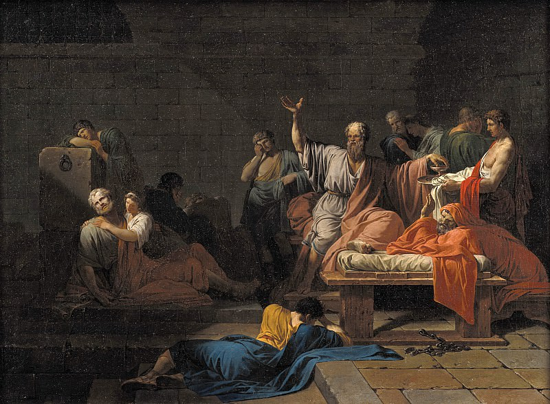 Jean Francois Pierre Peyron (1744-1814) - The Death of Socrates. Kobenhavn (SMK) National Gallery of Denmark