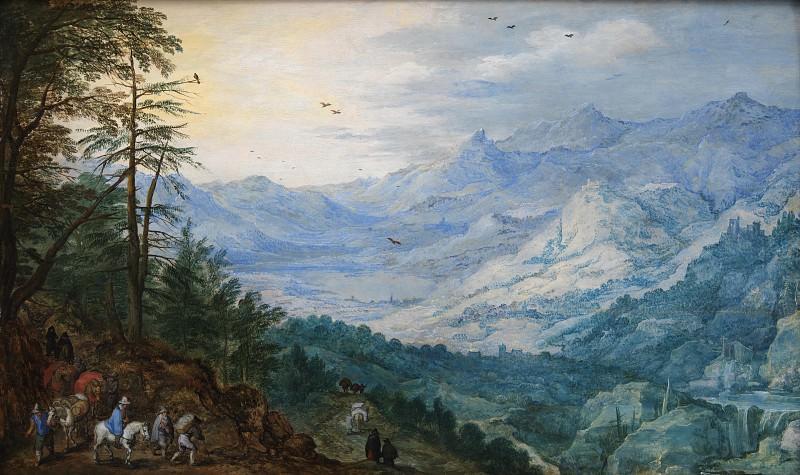 Joos de II Momper (1564-1635) - Rocky Landscape. Kobenhavn (SMK) National Gallery of Denmark