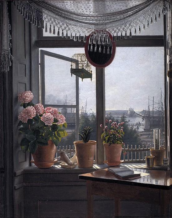 Martinus Rørbye (1803-48) - View from the artist's room. Kobenhavn (SMK) National Gallery of Denmark