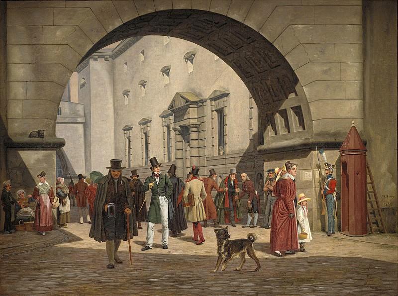 Рёрбю, Мртинус (1803-48) - Тюрьма в Копенгагене. Копенгаген (SMK) Датская национальная галерея