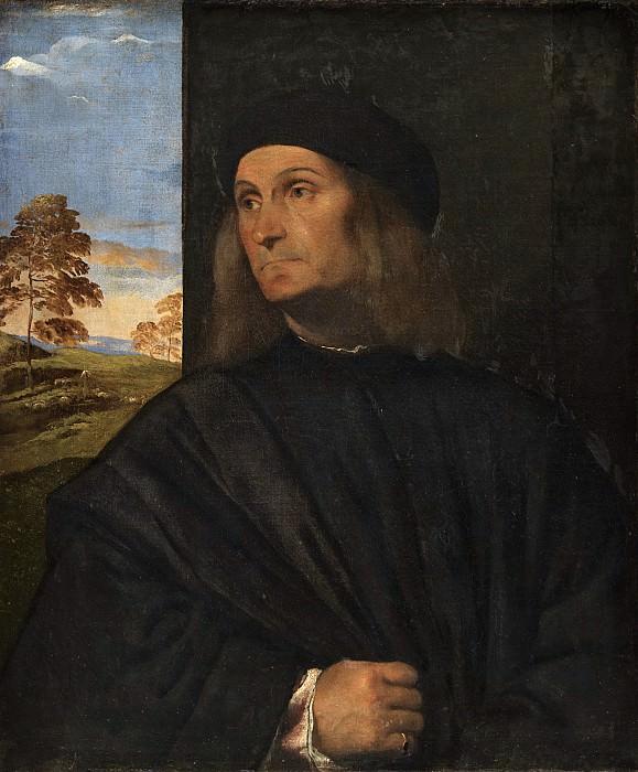 Portrait of the Venetian Painter Giovanni Bellini. Titian (Tiziano Vecellio)
