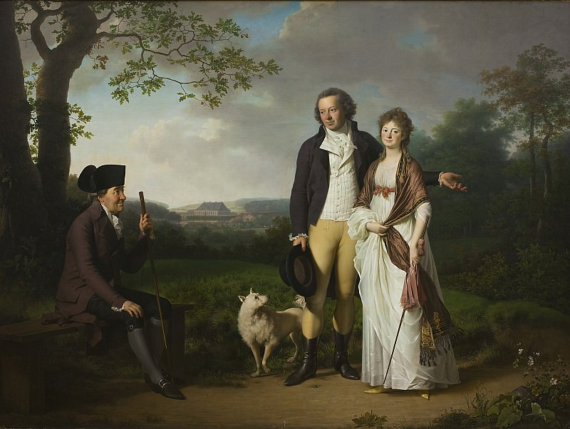 Jens Juel (1745-1802) - Niels Ryberg with his Son Johan Christian and his Daughter-in-Law Engelke. Kobenhavn (SMK) National Gallery of Denmark
