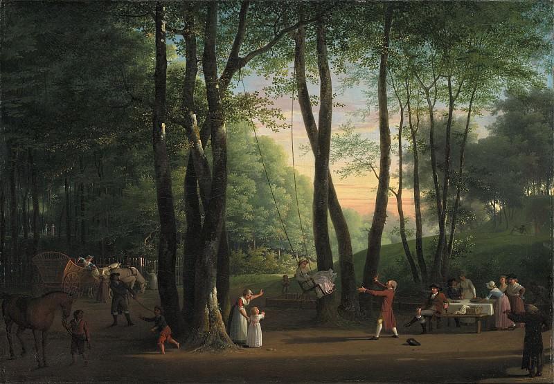 Jens Juel (1745-1802) - The Dancing Glade at Sorgenfri. Kobenhavn (SMK) National Gallery of Denmark