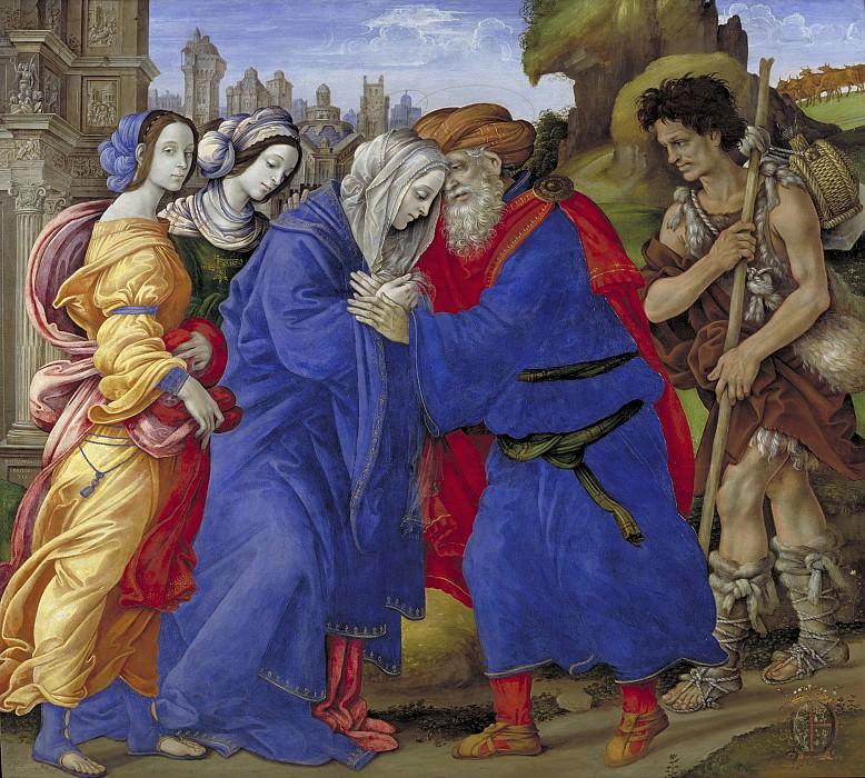 Filippino Lippi (C. 1457-1504) - The Meeting of Joachim and Anne outside the Golden Gate of Jerusalem. Kobenhavn (SMK) National Gallery of Denmark