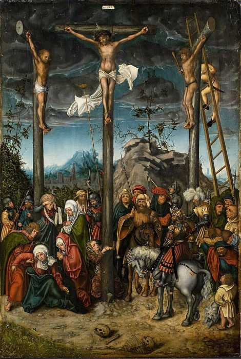 Lucas Cranasch the Elder (c. 1472- 1553) - The Crucifixion. Kobenhavn (SMK) National Gallery of Denmark