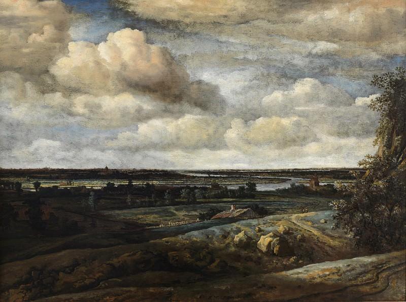 Конинк, Филипс (1619-88) - Голландский панорамный пейзаж с рекой. Копенгаген (SMK) Датская национальная галерея