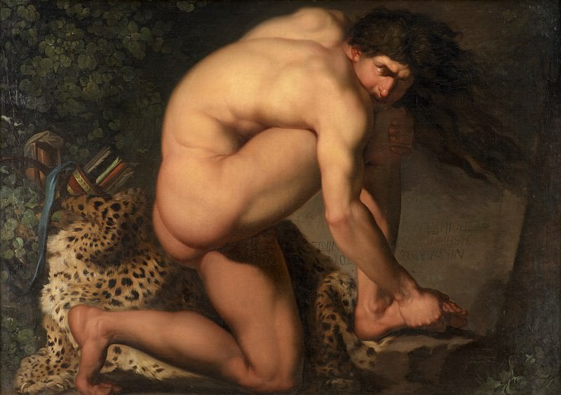 Nicolai Abraham Abildgaard (1743-1809) - The Wounded Philoctetes. Kobenhavn (SMK) National Gallery of Denmark