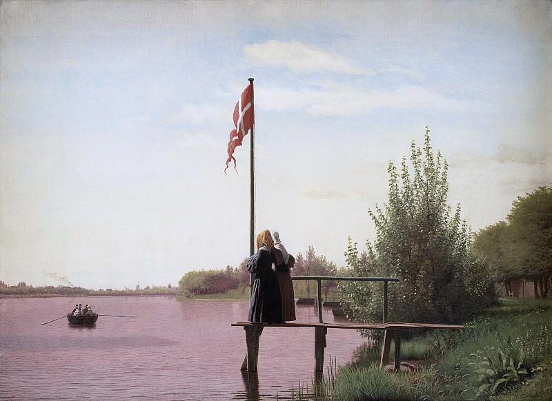 Кёбке, Кристен (1810-48) - Вид из Доссерингена близ озера Сортедам на Нёрребро. Копенгаген (SMK) Датская национальная галерея
