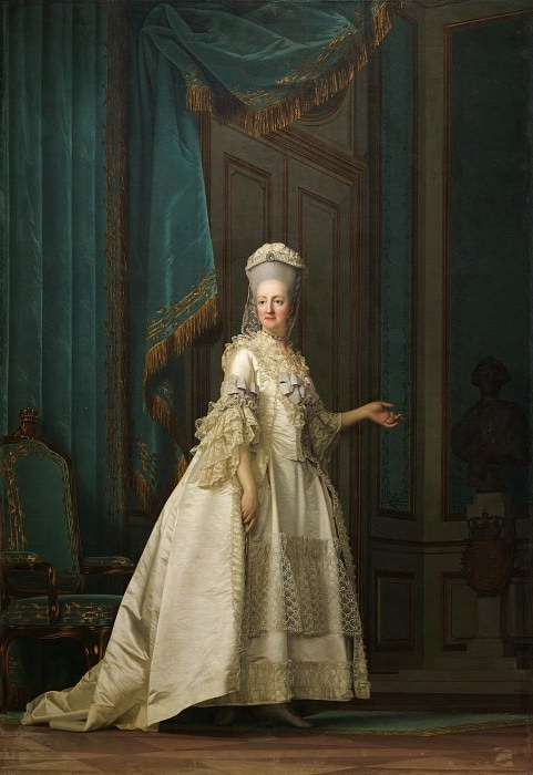 Vigilius Eriksen (1722-82) - Dowager Queen Juliane Marie of Denmark. Kobenhavn (SMK) National Gallery of Denmark