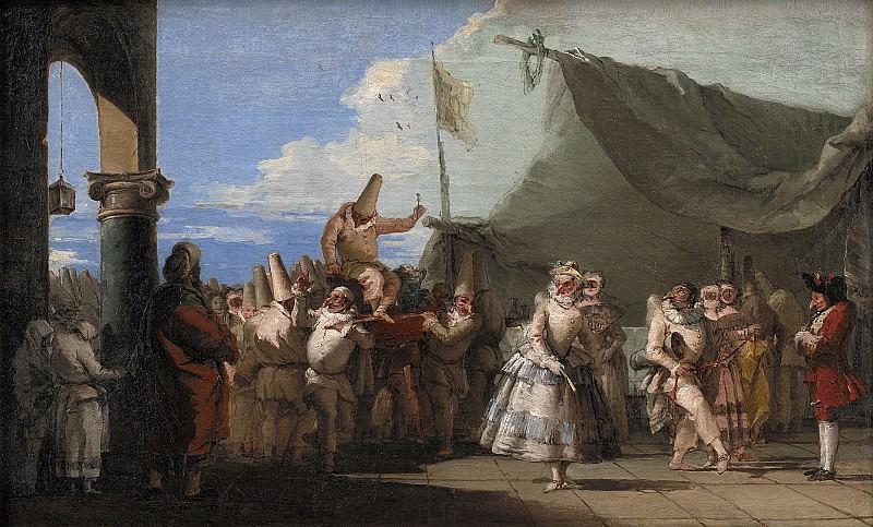 Giovanni Domenico Tiepolo (1696-1770) - The Triumph of Pulcinella. Kobenhavn (SMK) National Gallery of Denmark
