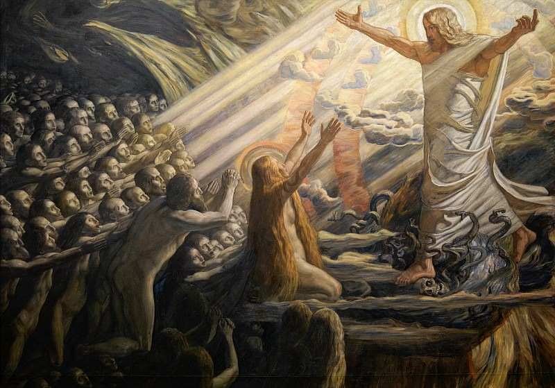 Joakim Skovgaard (1856-1933) - Christ in the Realm of the Dead. Kobenhavn (SMK) National Gallery of Denmark