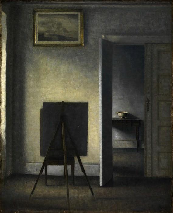 Vilhelm Hammershøi (1864-1916) - The Artist's Easel. Kobenhavn (SMK) National Gallery of Denmark