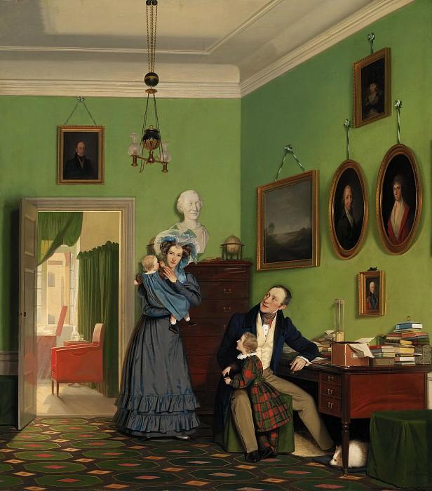 Wilhelm Bendz (1804-28) - The Waagepetersen Family. Kobenhavn (SMK) National Gallery of Denmark
