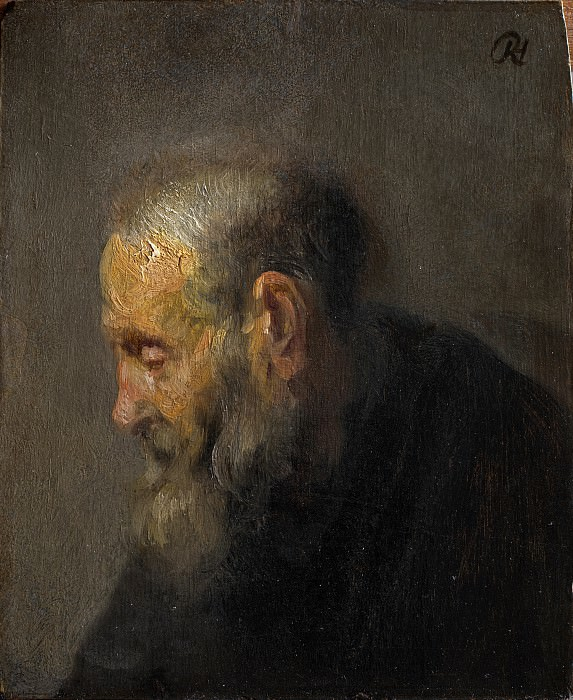 Study of an Old Man in Profile, c. 1630. Rembrandt Harmenszoon Van Rijn