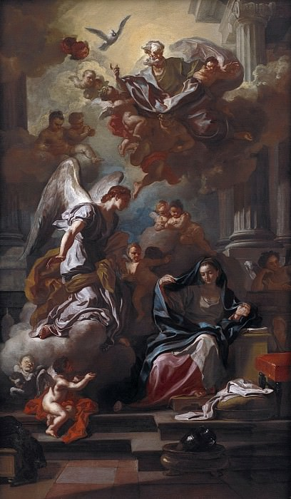 Francesco Solimena (1657-1747) - The Annunciation. Kobenhavn (SMK) National Gallery of Denmark