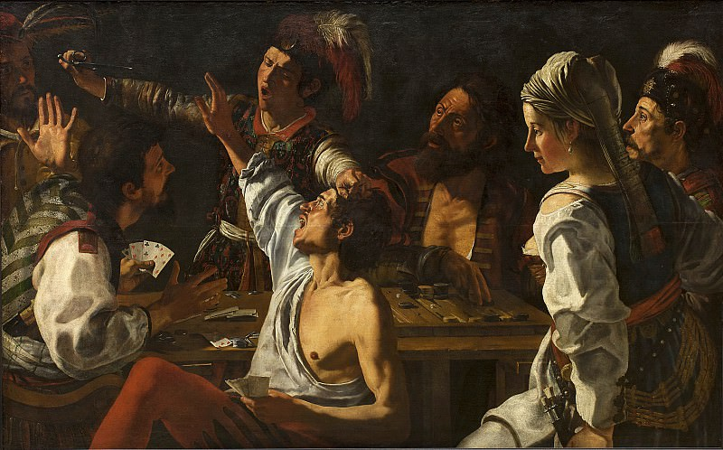 Theodoor Rombouts (1597-1637) - Card and Backgammon Players. Kobenhavn (SMK) National Gallery of Denmark