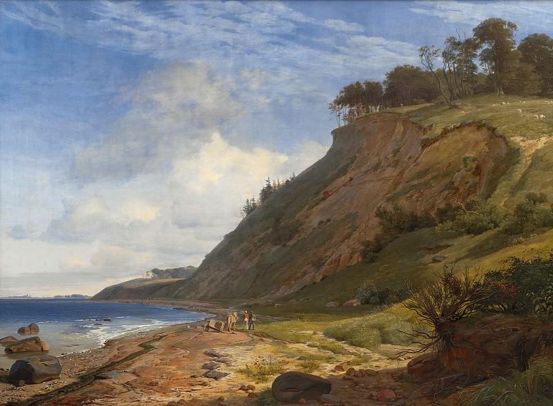 Johan Thomas Lundbye (1818-48) - A Danish Coast. View from Kitnæs by the Roskilde Fjord. Kobenhavn (SMK) National Gallery of Denmark